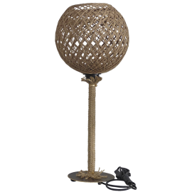 SILK-01/PR TABLE LAMP ROPE NATUR-UT-BR