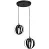 Κρεμαστό φωτιστικό μεταλλικό LAMA 2/L PENDEL BLACK