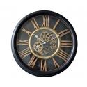 Vintage Ρολόι τοίχου μεταλλικό με κινούμενο μηχανισμό