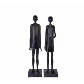 Διακοσμητικές αφρικάνικες φιγούρες (άνδρας-γυναίκα) 40cm