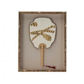 Πίνακας / κορνίζα ΒΕΝΤΑΛΙΑ λευκό-χρυσό 40x50x4.5