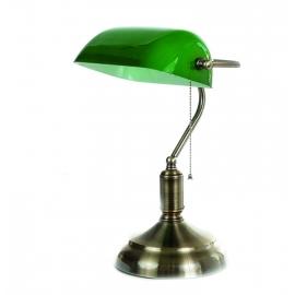 Επιτραπέζιο φωτιστικό οξυντέ / πράσινο γυαλί