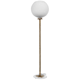 SILK-02 FLOOR LAMP ROPE WHITE-UT-WH