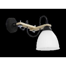 Φωτιστικό τοίχου σπαστό 2πλο λευκό BREAK-02ΑΡ OVO BL-WH