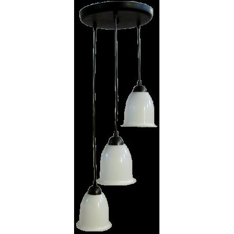 Κρεμαστό φωτιστικό FUN-500 PENDEL 3/Φ Μαύρο/λευκό