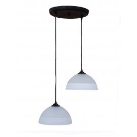 Φωτιστικό /οροφής ανισόπεδο GL-1020PENDEL 2L BL-WHΙΤΕ